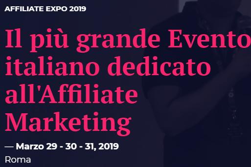 Affiliate Expo 2019, Melascrivi presente all'evento sull'Affiliate Marketing