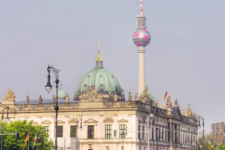 Lo skyline della città di Berlino