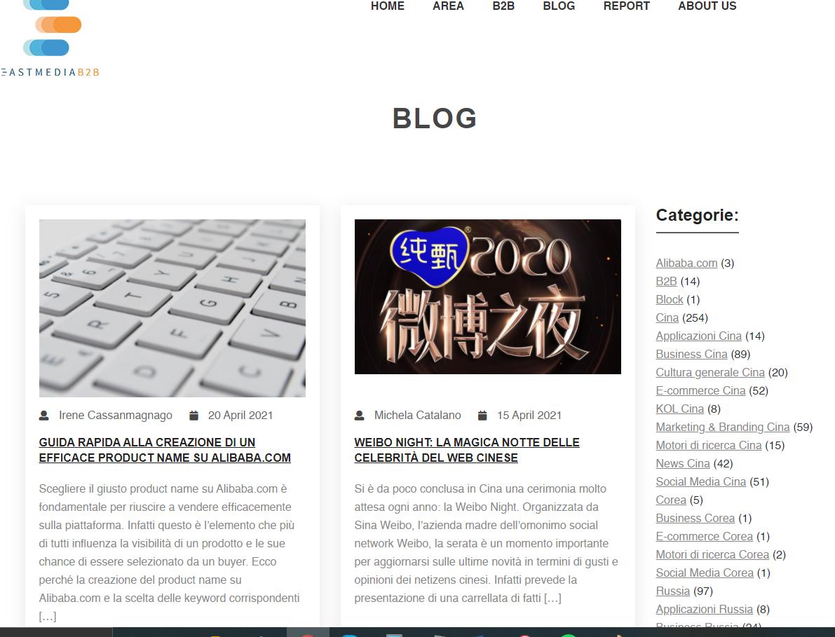 Blog sito East Media