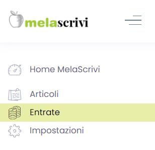 Dettaglio della home page del profilo autore sulla piattaforma di copywriting Melascrivi.com, da cui è possibile prendere in carico nuovi contenuti e tenere monitorati i propri guadagni.