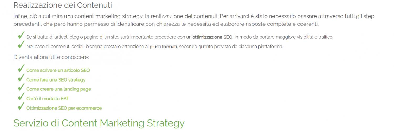 Screen shot dal sito di Melascrivi, corpo dell'articolo guida a Come creare una content marketing strategy