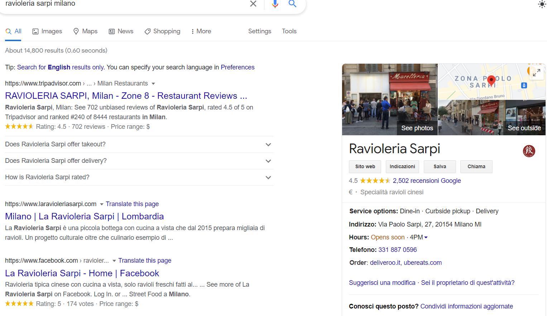 Risulttai di ricerca per ravioleria Sarpi