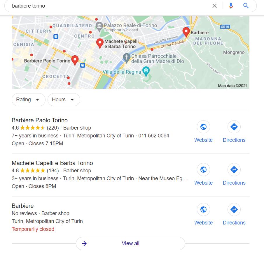 Risultati ricerca per Barbiere Torino