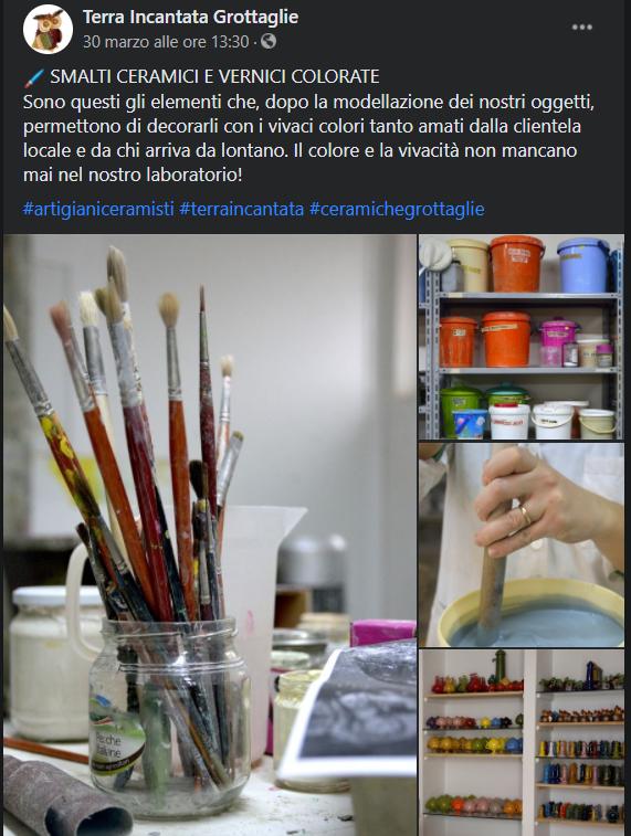 Post Facebook Terra Incantata ceramisti di Grottaglie